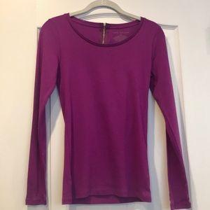 Ann Taylor magenta zip back shirt size XS
